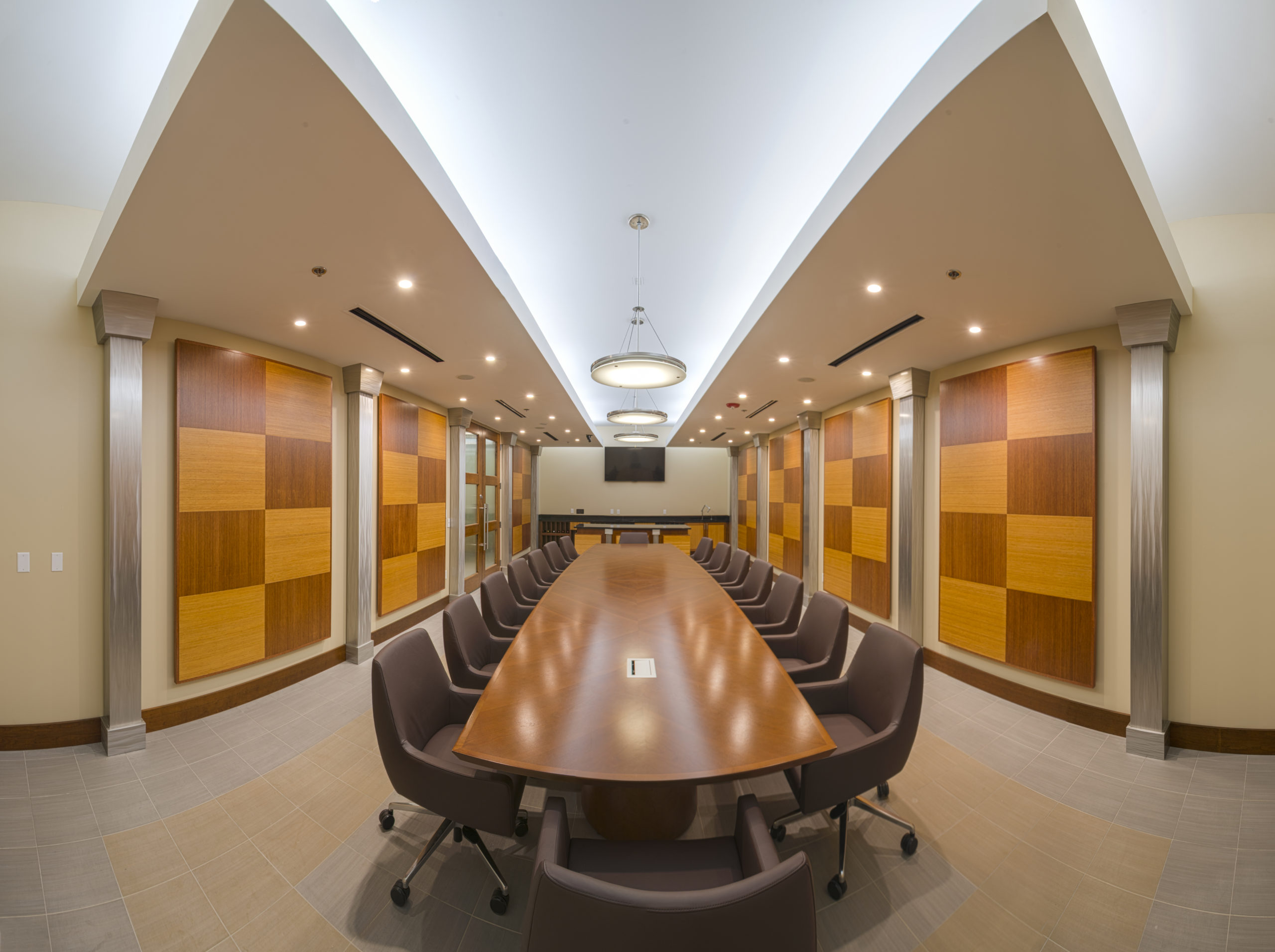 Office conference room interior.